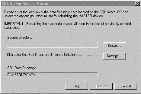 Installing Microsoft SQL Server 7